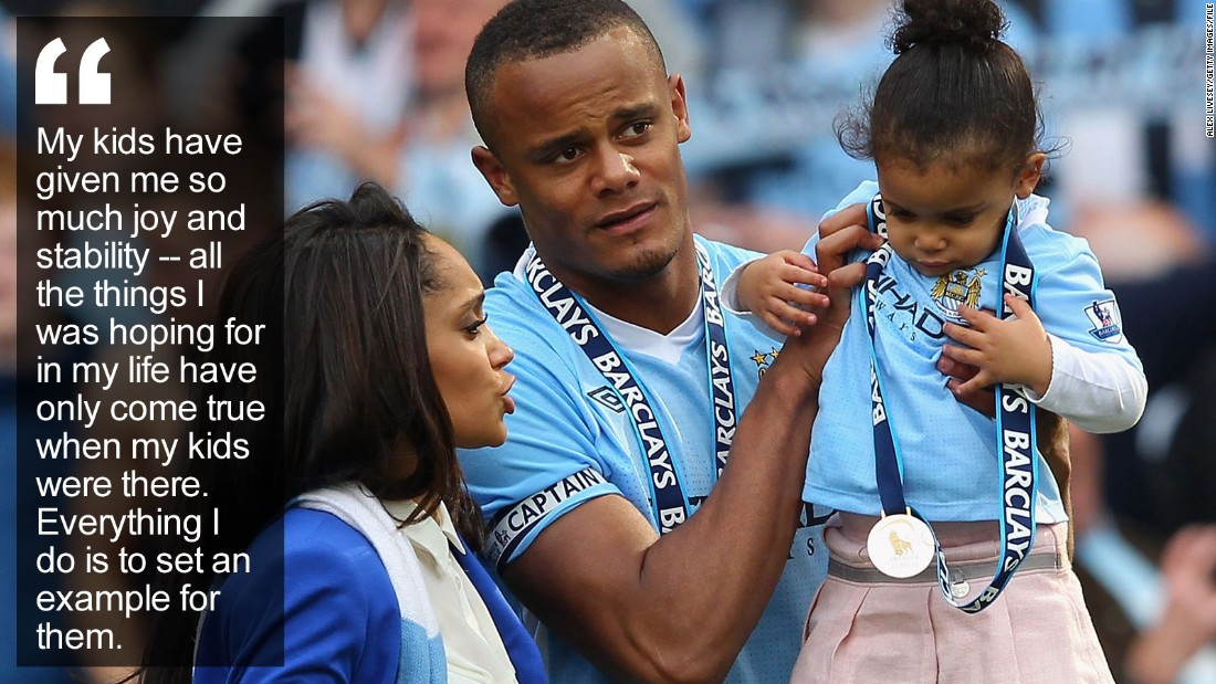 """He's a multimillionaire who captains one of the world's wealthiest football clubs, but the Manchester City star is grounded by the most important factor in his life -- his family. <a href=""""/2015/07/01/football/vincent-kompany-manchester-city-belgium-football/index.html"""" target=""""_blank"""">Read more</a>"""