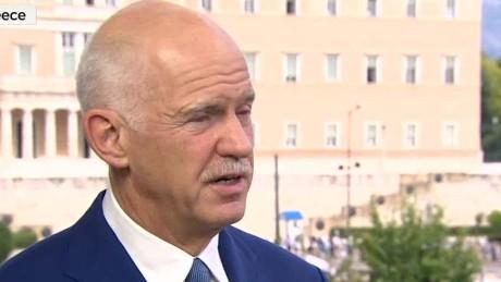 Greece Crisis Papandreou intv_00023220