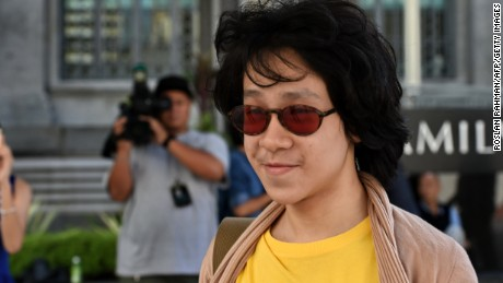 Amos Yee arrives at the state court in Singapore on June 2, 2015.