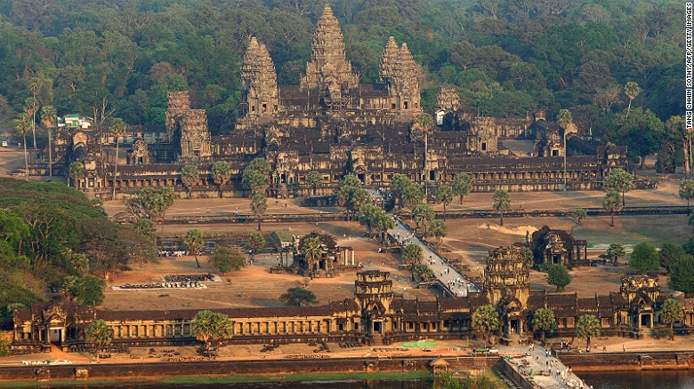 """Lonely Planet says Cambodia's stunning temple complex won the battle to top of its ultimate destination list """"by a landslide."""""""