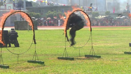 Chinese army flexes its muscles...