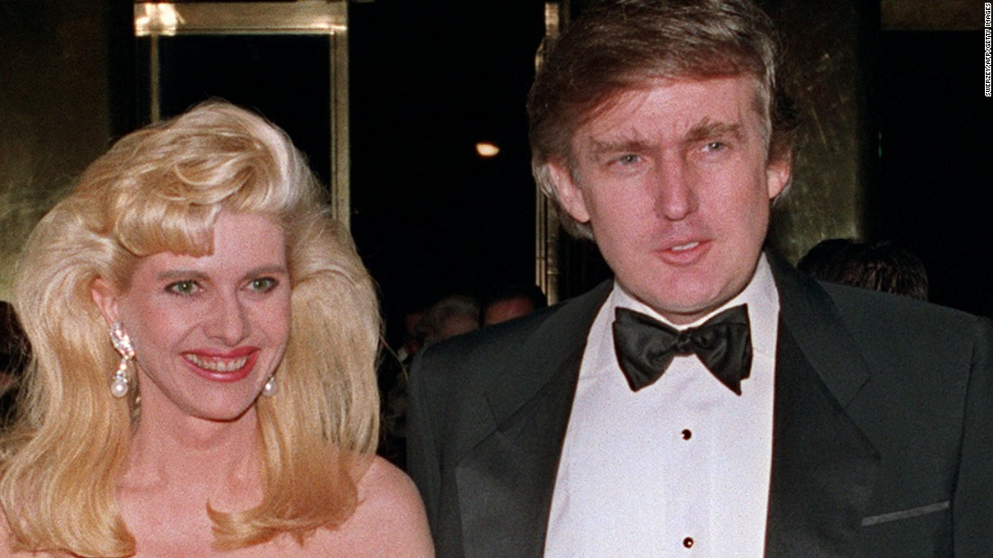 Trump was married to Ivana Zelnicek Trump from 1977 to 1990, when they ...