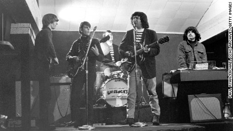 Photo of Grateful Dead when they started playing as the Warlocks circa 1965.