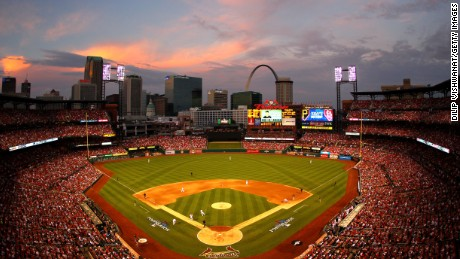 A general view as the St. Louis Cardinals take on the Pittsburgh Pirates in Game One of the National League Division Series at Busch Stadium on October 3, 2013 in St Louis, Missouri.