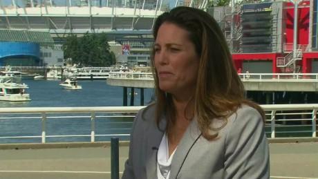 SPORTS Julie Foudy interview Women's soccer USA_00004515