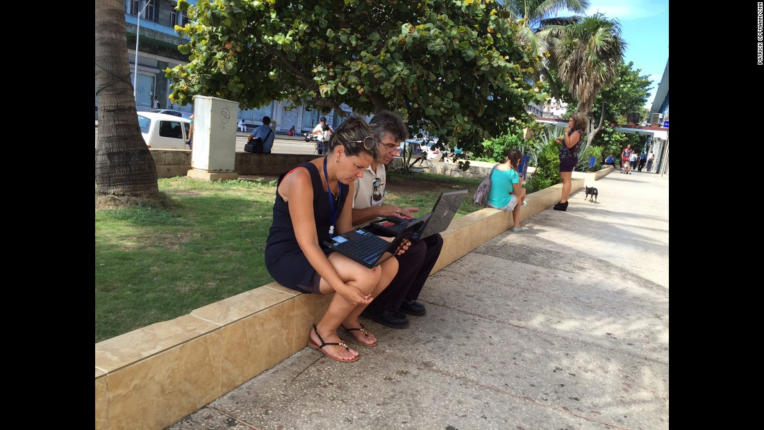 """CUBA: """"Trying out the new WiFi on La Rampa in Havana, one of 35 new spots providing internet to Cubans for $2 an hour."""" - CNN's Patrick Oppmann.<br />Follow <a href=""""http://instagram.com/cubareporter"""" target=""""_blank"""">@cubareporter</a> and other CNNers on the <a href=""""http://instagram.com/cnnscenes"""" target=""""_blank"""">@cnnscenes</a> gallery on Instagram for more images you don't always see on news reports from our teams around the world."""
