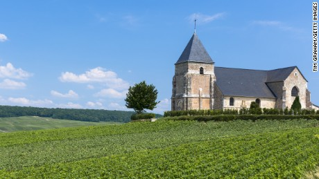L'Eglise de Chavot, 12th Century Church of Chavot, on Tourist Route of Champagne in Marne, Champagne-Ardenne region, France.