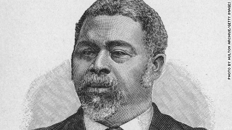 circa 1880: Robert Smalls (1839-1915). American naval officer and politician. An African-American born into slavery, he was forced to serve in the Confederate Navy during the Civil War. He took command of a ship and delivered it to Union forces, became a pilot in the U.S. Navy, advanced to captain 1863-1866, the highest ranking African-American officer in the Union Army. Member, South Carolina State House of Representatives. (Photo by Hulton Archive/Getty Images)