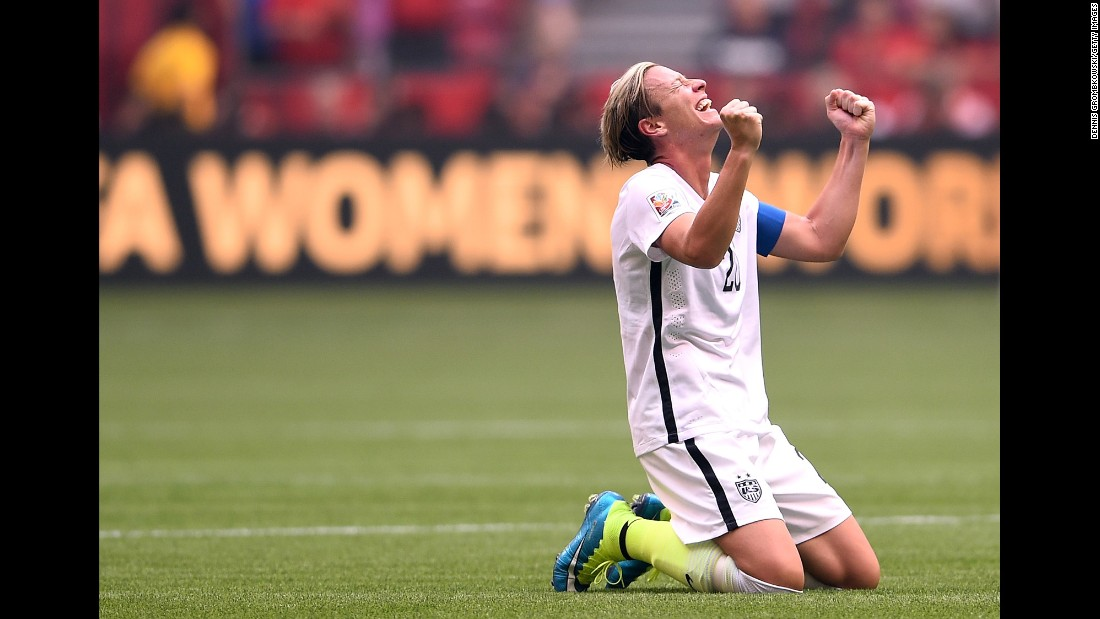 Abby Wambach celebrates after the U.S. victory.