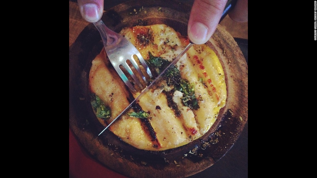 Grilled in a specially sized skillet or a simple foil dish, provoleta, made from cow's milk, is often topped with oregano and should be slightly crisp on the outside and melted on the inside.