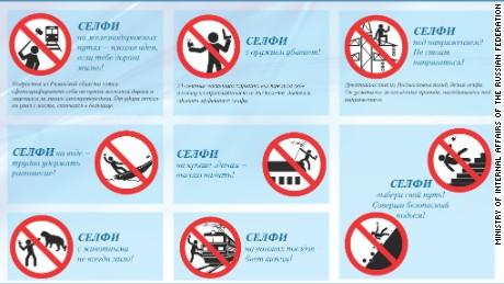 Russia warns of dangers of the selfie