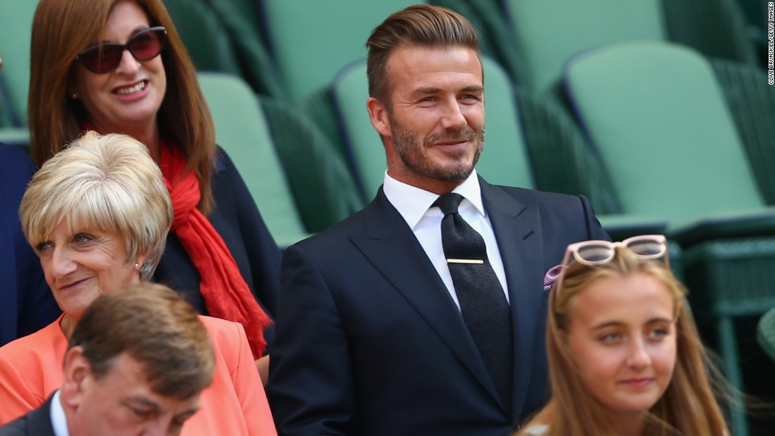 For the second straight day, David Beckham was at the All England Club.