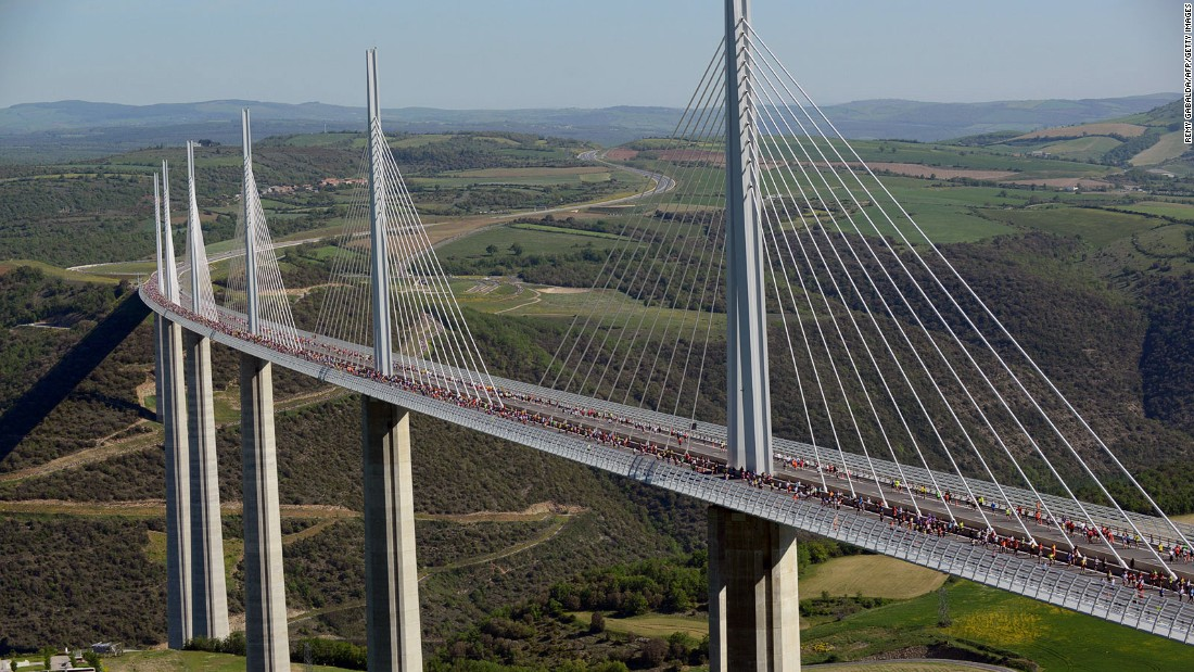 No list of incredible global engineering achievements is complete without France's elegant Millau Viaduct. The highest road bridge deck in Europe, the viaduct sits 270 meters over the River Tarn. Opened in 2004, it's now a vital link on a major route connecting France with Spain.
