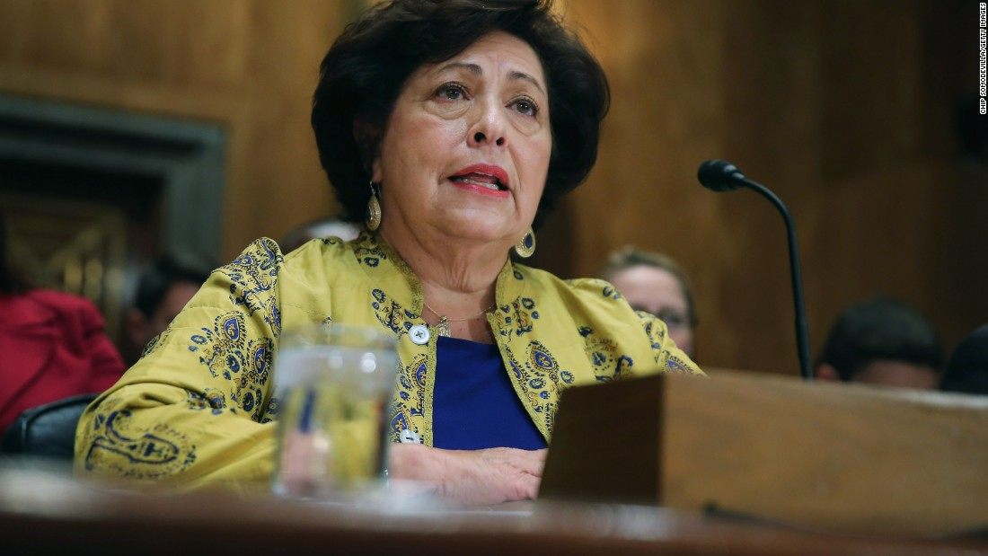 "Katherine Archuleta, director of the Office of Personnel Management, <a href=""http://www.cnn.com/2015/07/10/politics/opm-director-resigns-katherine-archuleta/index.html"" target=""_blank"">resigned</a> July 10, a day after revealing a data breach of government computers was vastly larger than originally thought."
