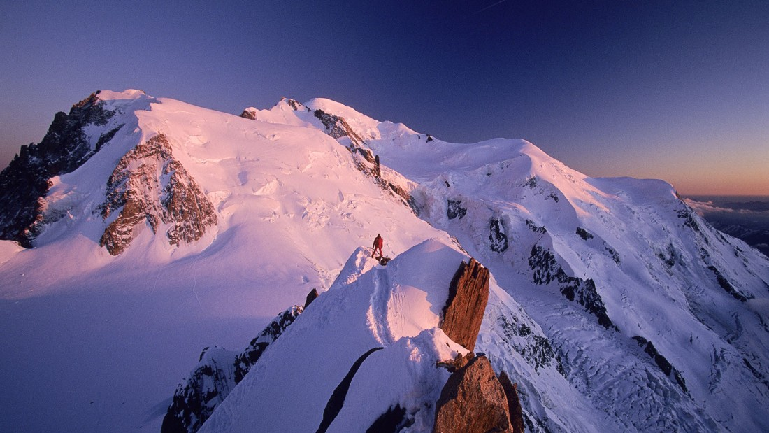 The birthplace of modern mountaineering, Mont Blanc towers 4,810 meters over the Alps on France's border with Italy. The world's 11th highest mountain has a beguiling but formidable reputation. Nearby, Chamonix is one of France's most popular ski destinations.