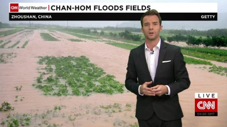 Typhoon floods agricultural fields in China