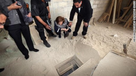 "Authorities investigate the tunnel that Joaquin ""El Chapo"" Guzman used to escape from a maximum-security prison."
