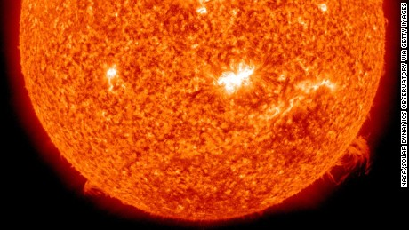 IN SPACE - FEBRUARY 15:  In a screen grab taken from a handout timelapse sequence provided by NASA / SDO, a solar spot in the centre of the Sun is captured from which the first X-class flare was emitted in four years on February 14, 2011. The images taken by NASA's Solar Dynamics Observatory (SDO) spacecraft reveal the source of the strongest flare to have been released in four years by the Sun, leading to warnings that a resulting geo-magnetic storm may cause disruption to communications and electrical supplies once it reaches the earths magnetic field.  (Image by NASA/Solar Dynamics Observatory via Getty Images)