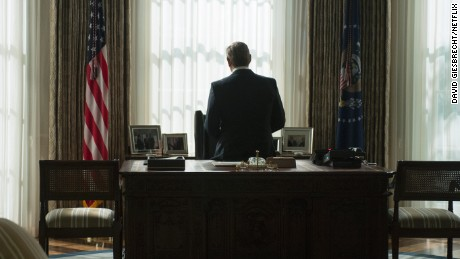 "Kevin Spacey in ""House of Cards"" - Credit: David Giesbrecht/Netflix"