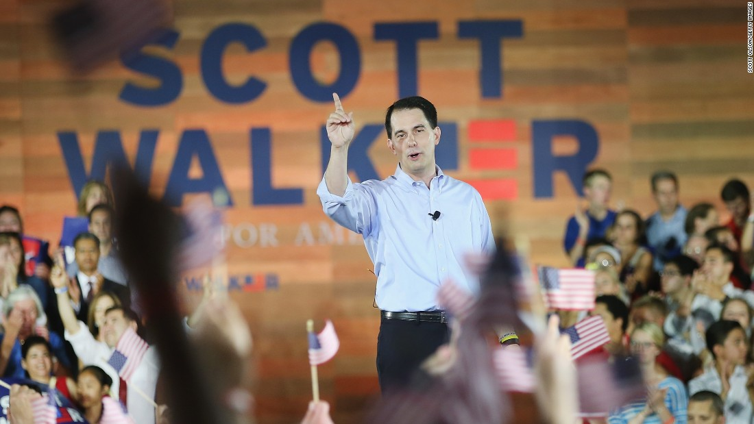 "On July 13, Wisconsin Gov. Scott Walker became the 15th Republican to join the race for his party's nomination. He launched his bid with a tweet and a video ahead of his rally in his home-state. <br /><br />In his video, he said, ""In the Republican field, there are some who are good fighters, but they haven't won those battles. There are others who have won elections but haven't consistently taken on big fights. We've showed you we can do both."""