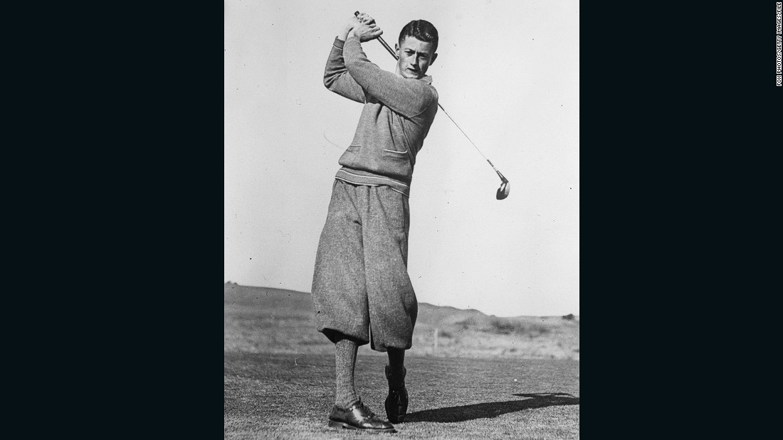 "Australian golfer Harry Williams sported a particularly fine pair of plus fours, or knickerbockers as they were more commonly known, in 1931.   <br /><br />""People always ask about the plus four and the plus two -- the difference is the width of fabric that's left at the knee. Plus fours equals four inches of fabric at the knee,"" Fleming says. <br /><br />""If you ask people to name the traditional golfing look, it's diamond jumpers and plus fours. They were worn for lots of outdoor pursuits and golfers took to the knickerbockers. Even at the time people debated whether you looked silly!"""