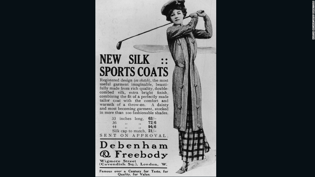 """A dainty and most becoming garment..."" Two decades later and fashions were starting to change, as this advert from 1910 suggests."