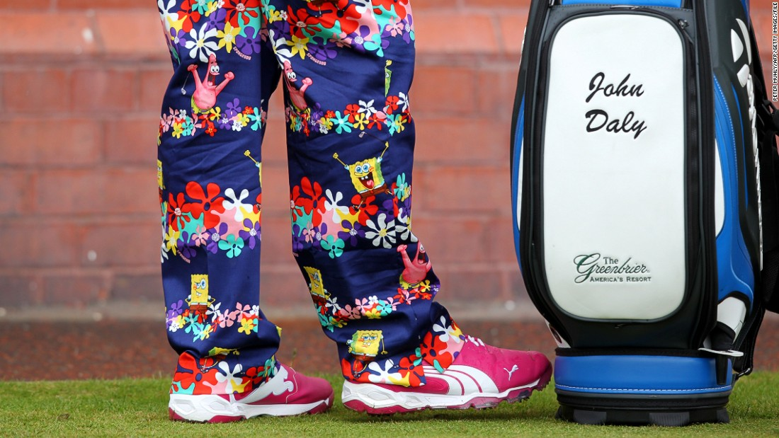 Here's a pair he wore at last year's Open Championship at Hoylake. What will he wear this year?