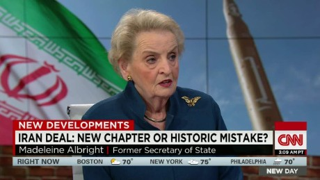 madeleine albright new day iran nuclear deal_00022009