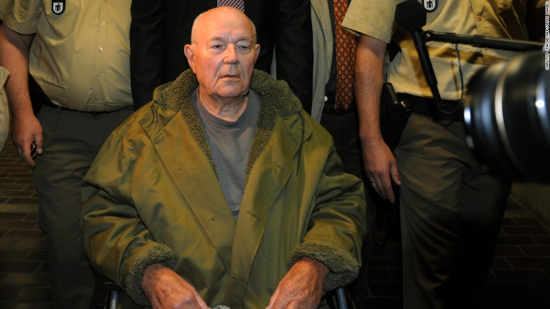 "Onetime Ohio autoworker John Demjanjuk spent decades in and out of courts fighting to prove he was not a guard known to inmates at the Sobibor death camp as ""Ivan the Terrible."" An Israeli court sentenced him to death in 1988, but that conviction was later overturned. In the end, a German court found him guilty of assisting in mass murder as a guard at the Nazi-run Sobibor death camp in German-occupied Poland. He was sentenced to five years in prison, and died in 2012 in a home for the elderly where he was living pending appeal."