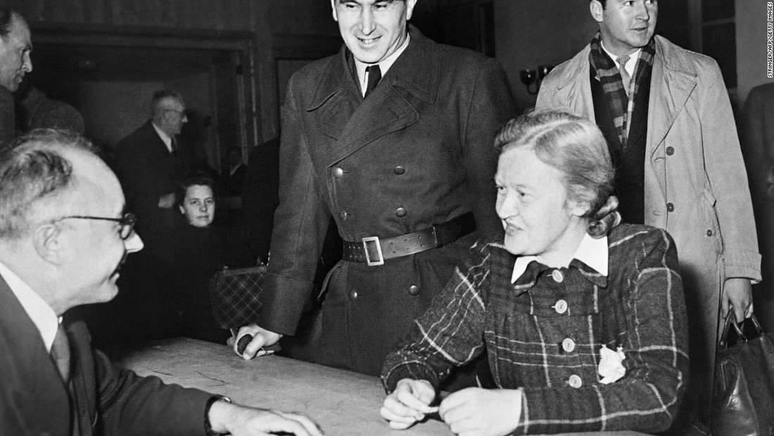 "Ilse Koch was the wife of Buchenwald camp commander Karl Koch. Known as ""The Witch of Buchenwald"" by the inmates because of her cruelty and lasciviousness toward prisoners, she was sentenced in 1951 to life in prison."