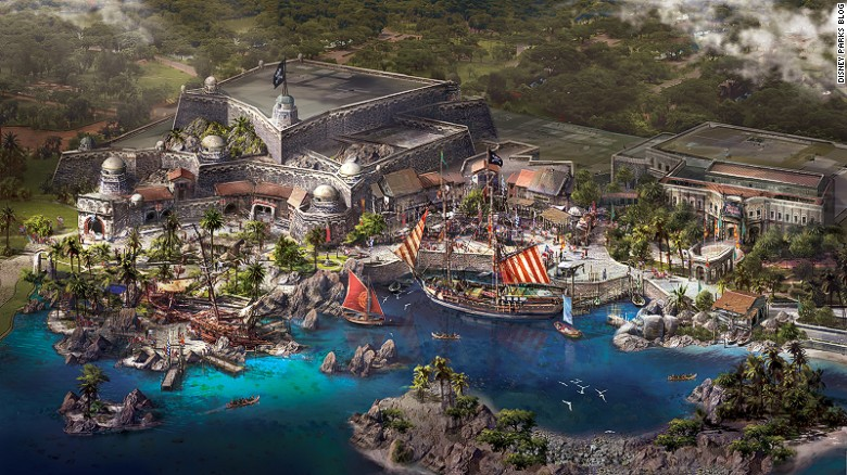 Treasure Cove is one of the six themed lands planned for Shanghai Disneyland. It's the brand's first pirate-themed land.