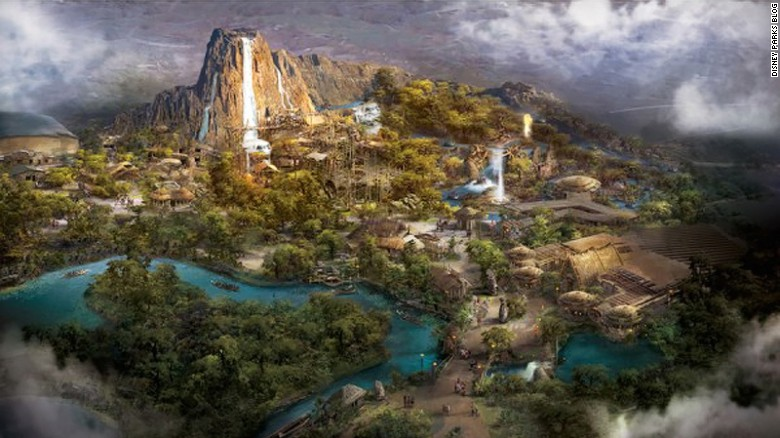 """Another Disney """"first"""" for Shanghai is Adventure Isle, """"a mysterious land with an ancient legend about a native tribe, a giant reptilian creature and the mighty Roaring Mountain."""""""