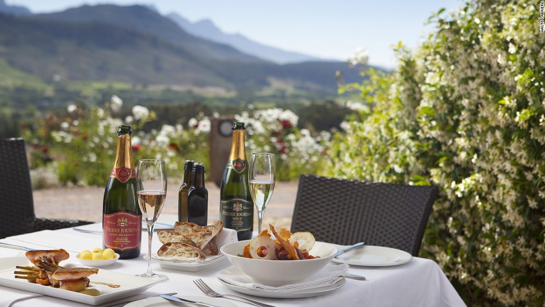 "Cape Winelands is home to Pinotage, the only new grape variety created outside Europe. It has many renowned vineyards. Haute Cabriere (pictured here) lies in Franschhoek, one of the <a href=""http://edition.cnn.com/2015/07/27/travel/seven-best-cape-town-vineyards/"">popular wine trails</a>."