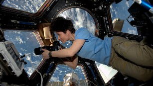 This astronaut would probably stay in space if she could