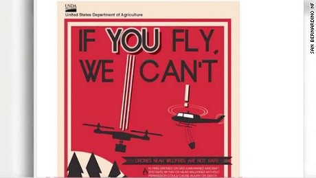 Drones impede firefighting efforts in California