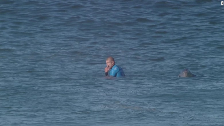 Surfer Mick Fanning's close encounter with shark