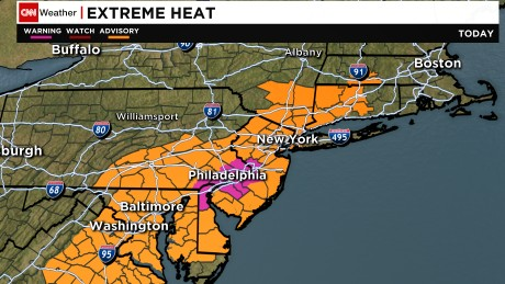 The misery index will be off the charts along the East Coast on Sunday forecasters say.