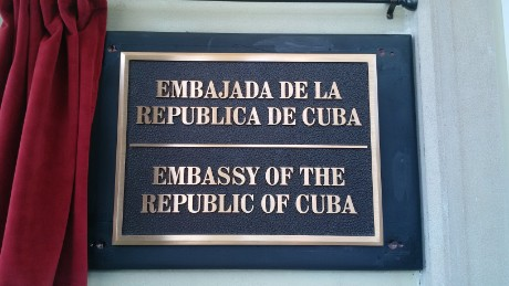 Cuban Embassy sign