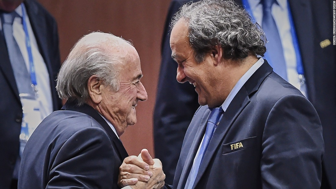 European football chief Michel Platini, seen here with Blatter (left), is the leading candidate to replace the outgoing president. The former France captain is also a vice-president in FIFA's Executive Committee.