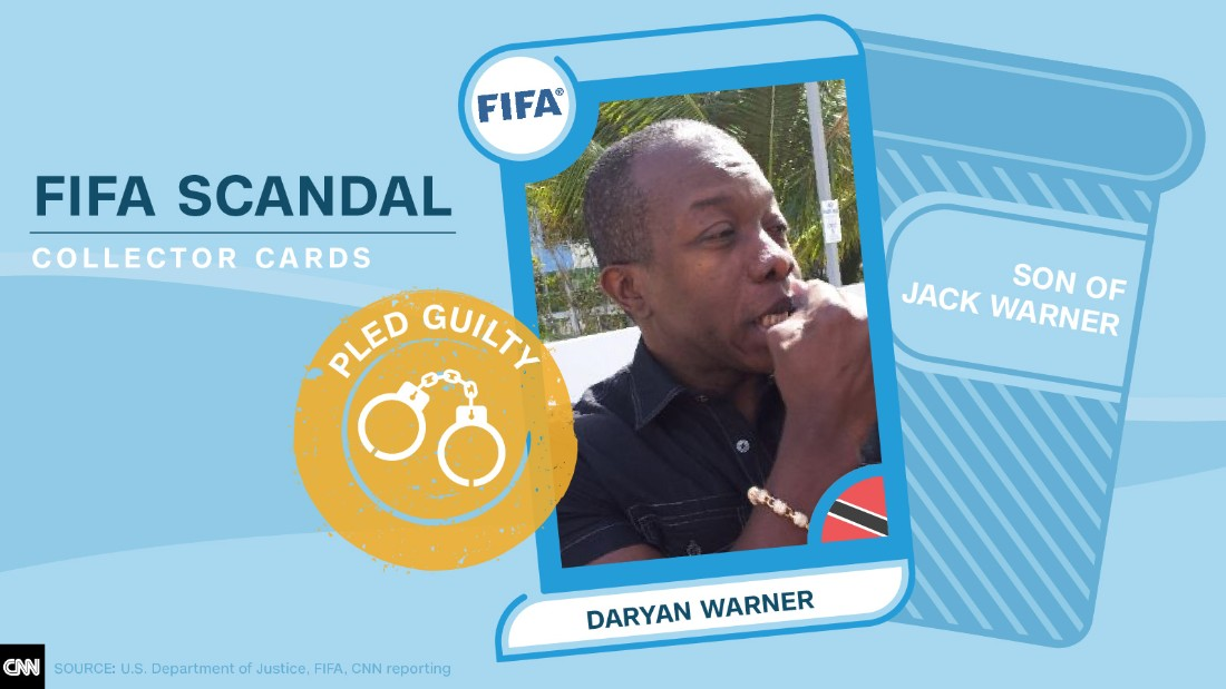 FIFA scandal collector cards Daryan Warner