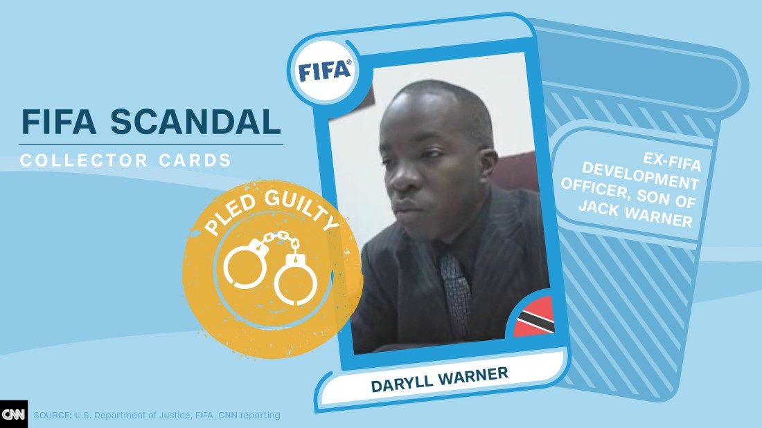 FIFA scandal collector cards Daryll Warner