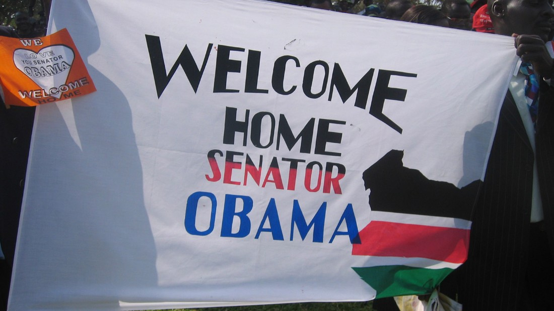 Fourteen years after traveling to Kenya for the first time, Barack Obama received a warm welcome when he and his family visited in August 2006.