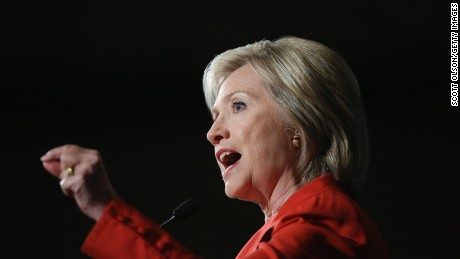 Democratic presidential candidate and former Secretary of State Hillary Clinton speaks to guests at the Iowa Democratic Party's Hall of Fame Dinner on July 17, 2015 in Cedar Rapids, Iowa.