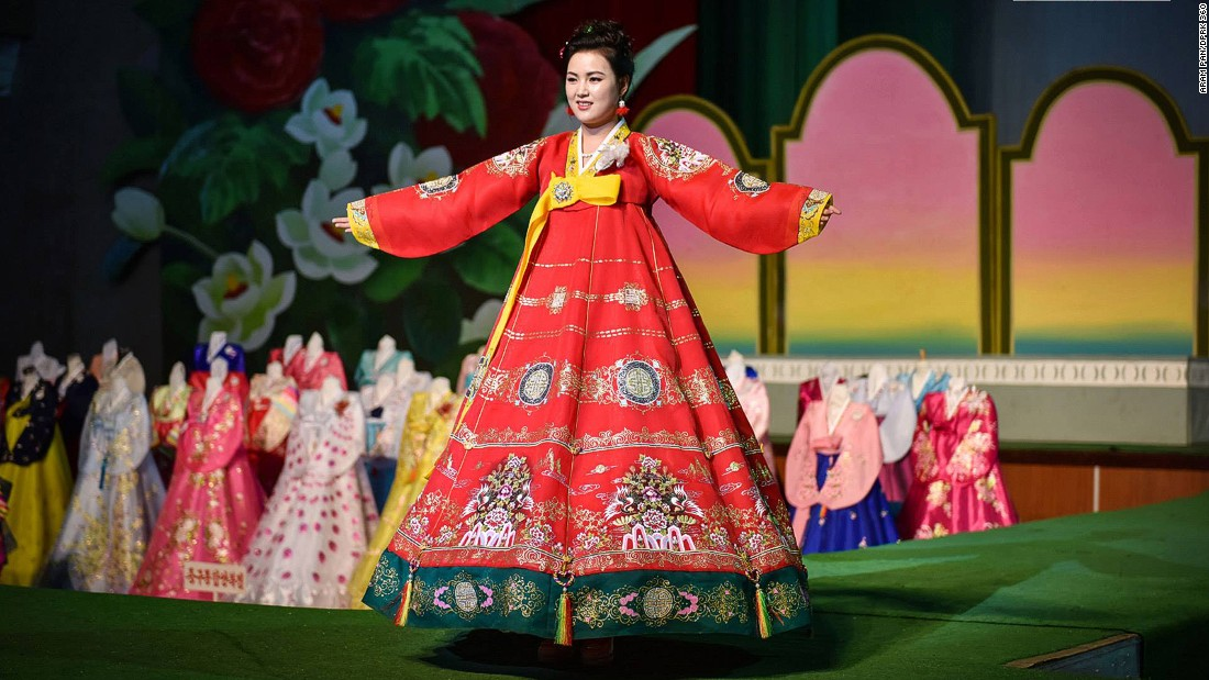 Pan discovered more local trends on display at the 12th Pyongyang Fashion Exhibition.