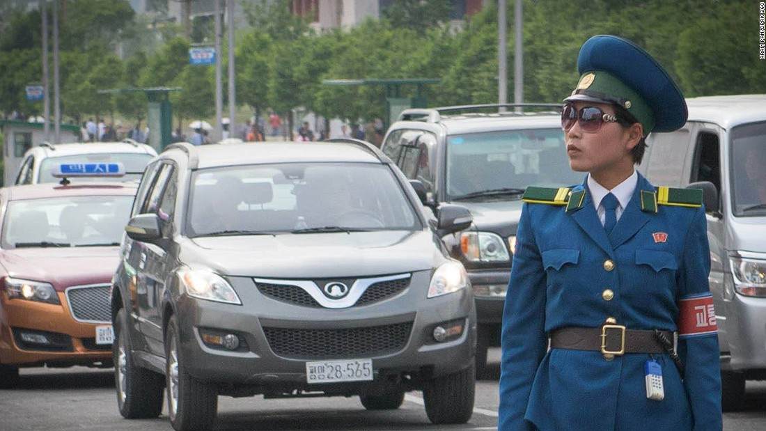 """Apart from the beautiful panoramic images, Pan records daily life during his trip and shares moments on Facebook. One of his photo albums is dedicated to North Korean fashions. His caption to this image reads: """"It's official! Oversized fashion sunglasses have reached North Korea!"""""""
