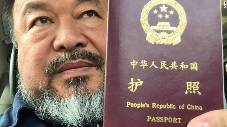After 600 days, China returns passport to artist Ai Weiwei