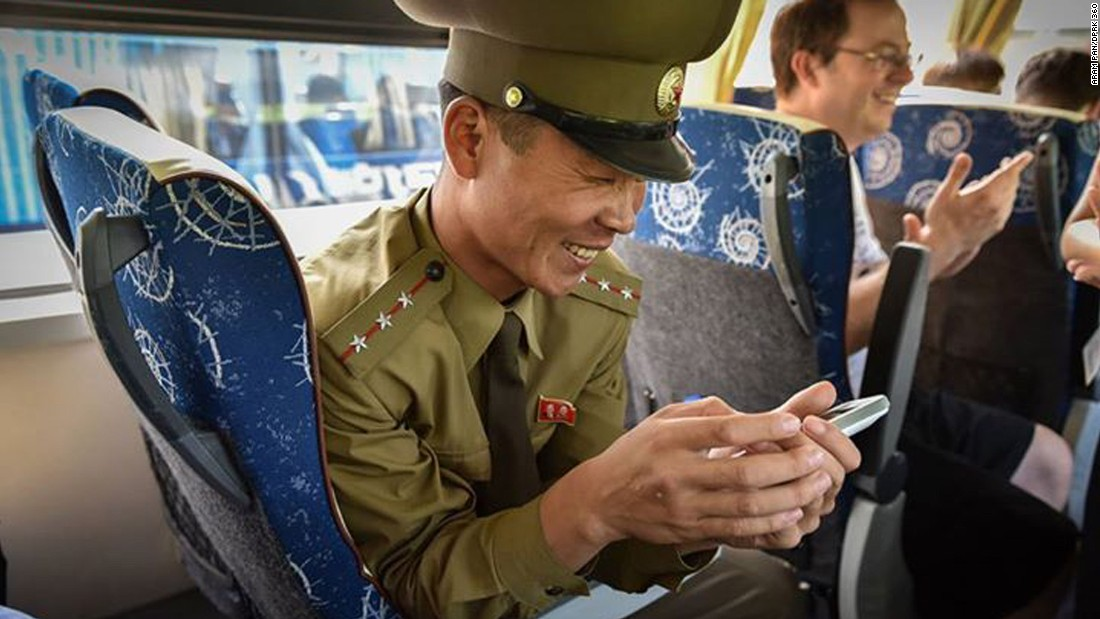 """After the visit, this senior lieutenant followed Pan up the bus and accompanied him all the way out from the area. """"All through the bus ride, he was playing with the 360 virtual tour,"""" says Pan. """"<a href=""""http://www.dprk360.com/360/pyongyang_aerial_view/""""  particular 360 was his favorite</a>.""""<br />"""