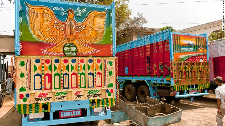 """""""Each truck is an evolving work of art,"""" added Eckstein.<br />""""There's the initial build and painting of the truck, but as they go along they'll add different stickers or commission different paintings, or they'll make decorations, or add garlands."""""""