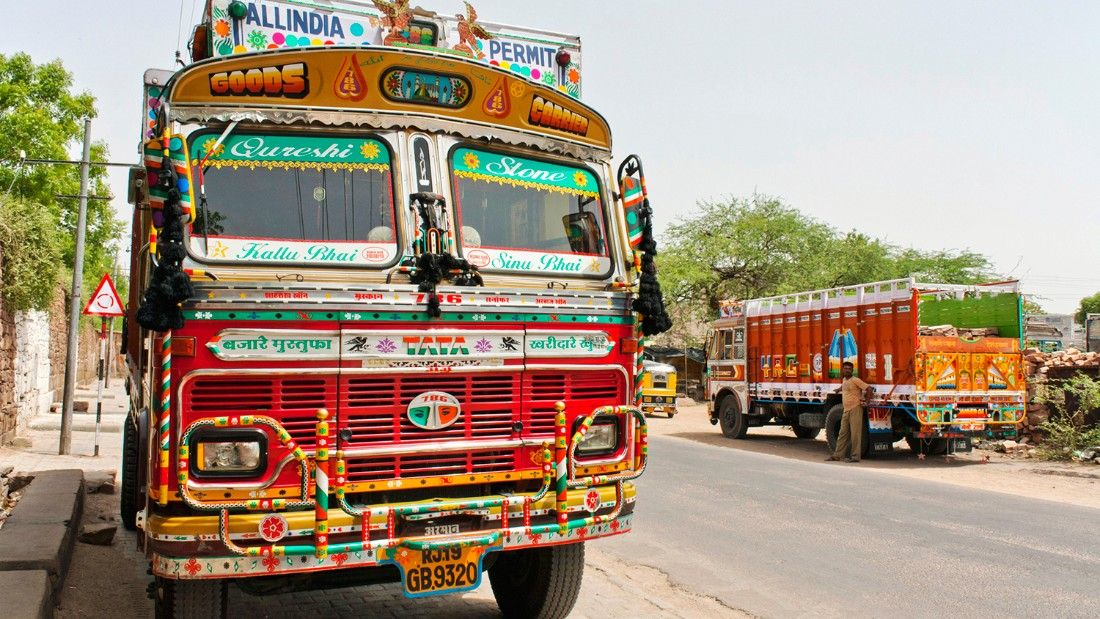 Indian truck art in Jodhpur.