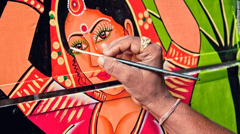 Truck artist Raja Gharu works his magic.
